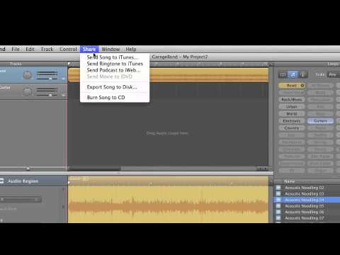 Tutorial 4 iMovie 11 Share song to iTunes, and bring back into iMovie
