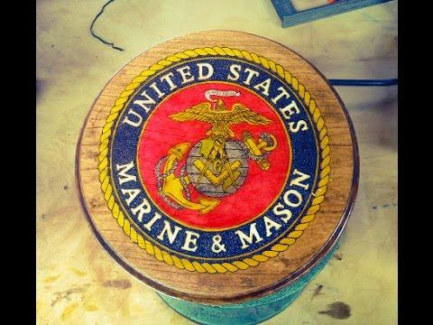 Wood Burning the Marine & Mason Plaque
