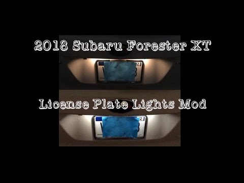 Subaru Forester XT 2018 License Plate LED Light Mod