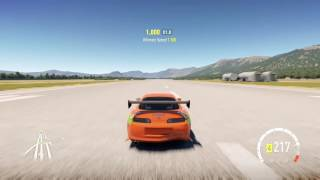 Toyota supra FAST AND FURIOUS edition forza horizon 2 air strip drag