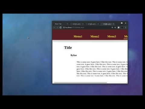 Single Page Website with Google Web Designer