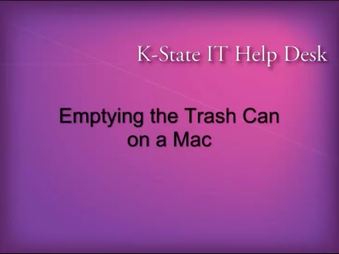 Emptying the Trash Can on a Mac
