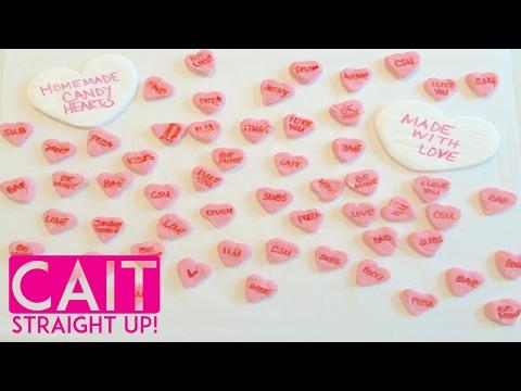 Homemade Conversation Hearts   DIY Candy Hearts Recipe   Cait Straight Up