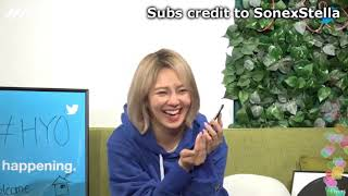 [ENG] Hyoyeon Live 180418 - Yuri's Call & HY would like to collaborate w/ Taeyeon