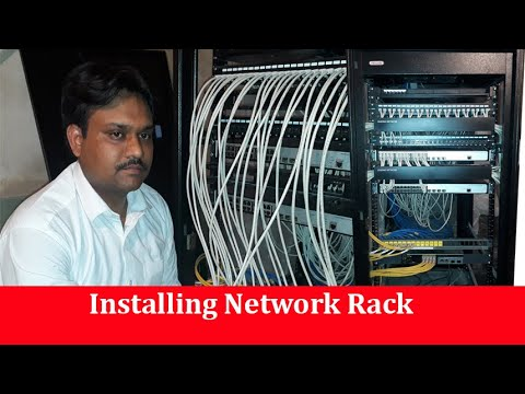 Installing Network Rack | Patch Panel | Switch | Fiber Cable | by Tech Guru Manjit