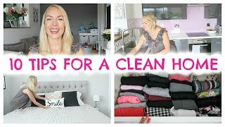 10 TIPS FOR A CLEAN HOME  |  HABITS FOR KEEPING A CLEAN HOUSE