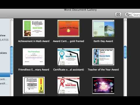 How and  where to download template for Mac office '11