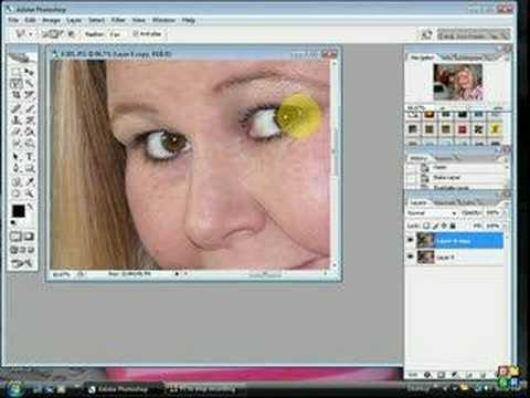 Easy way to change eyecolor in Photoshop CS2