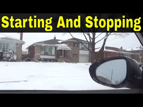 Starting And Stopping The Car-Beginner Driving Lesson