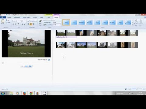 How to make Movie/Video from Pictures with Caption title and music using  Microsoft Movie Maker