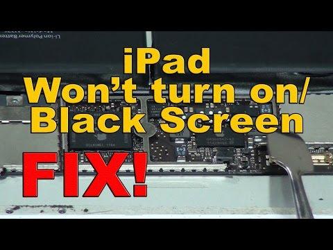 ipad wont turn on black screen FIX