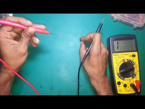 How to check capacitor with multimeter.(cold testing and hot testing method)..............