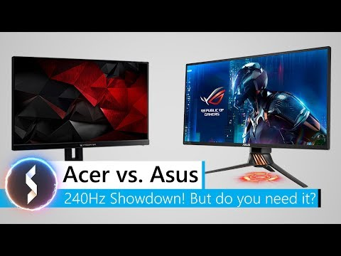 Acer XB272 vs Asus PG258Q 240Hz Showdown! But do you need it?