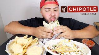 FAT CHIPOTLE BURRITO & TACOS MUKBANG