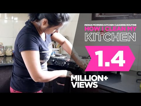 Indian Morning Kitchen Cleaning Routine | How I Clean my Kitchen