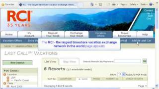 New Last Call / Extra Vacations Tutorial Help RCI members/ Timeshare Owners