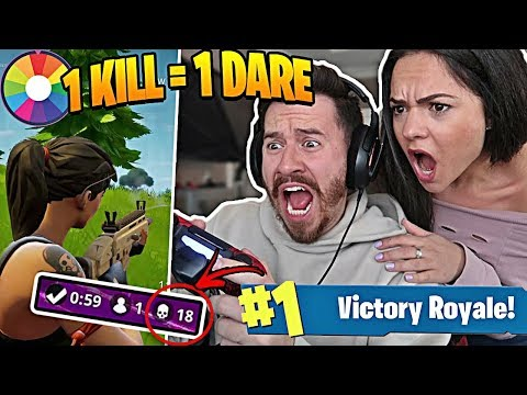 1 KILL = 1 DARE W/ MY GIRLFRIEND!! Fortnite Battle Royale Roulette Challenge