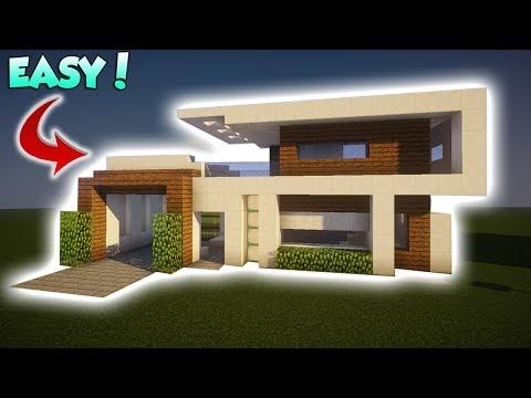 Minecraft: Medium Modern Tutorial - How to build a Modern House