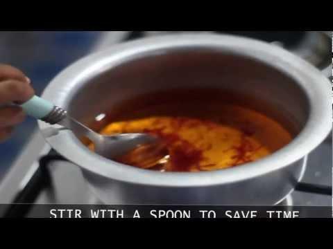 How to make saffron ink