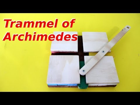 Mechanism to make Ellipses: Trammel of Archimedes