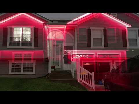 DIY RGB LED Strip Christmas Light Installation - Wifi Controller