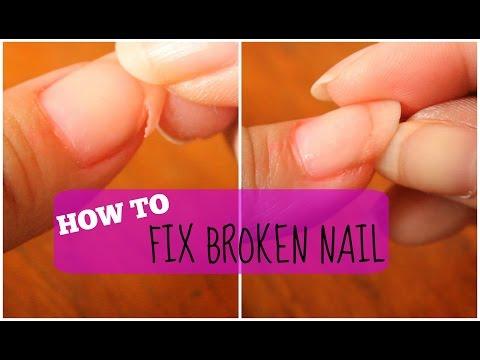 HOW TO FIX A BROKEN FINGERNAIL | MsLaviniaful