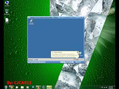 Install Windows Server 2003 in VMware Player - Part 2
