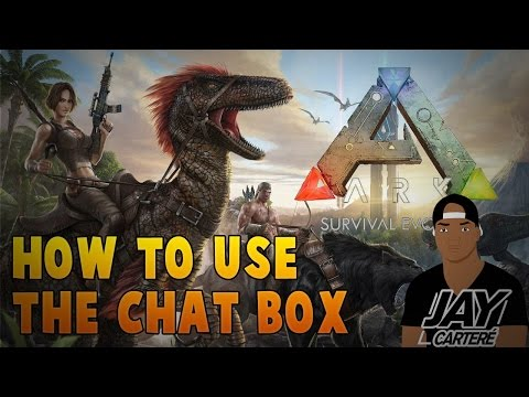 Ark Survival Evolved PS4 Tutorial - How To Use The Chat Box - How To Switch To Tribe Or Global Chat