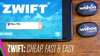 ZWIFT: Cheap & Easy Setup w/ iPhone & Wahoo RPM Speed/Cadence