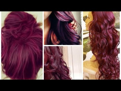 Vibrant Shades of Burgundy Hair Color