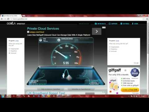 Sky Broadband Speed Test.