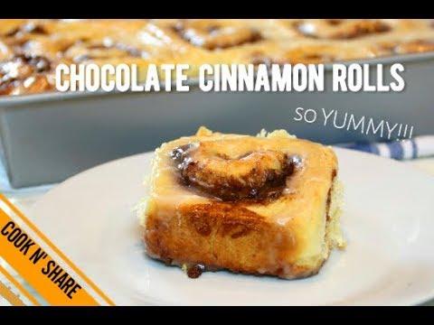 Irresistible Chocolate Cinnamon Rolls with Glaze