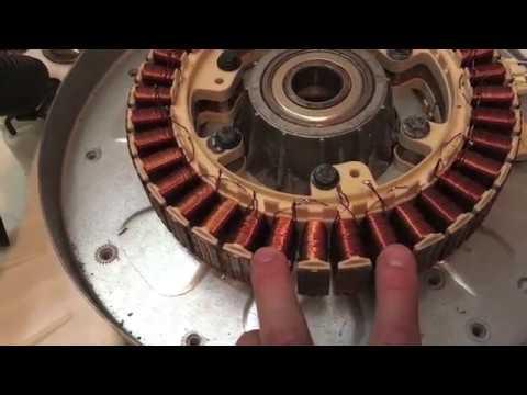 A simple Transistor circuit running a brushless washing maching motor Part 2