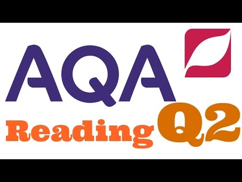 New AQA English Language 8700 Paper 1 Question 2 with Model Answer