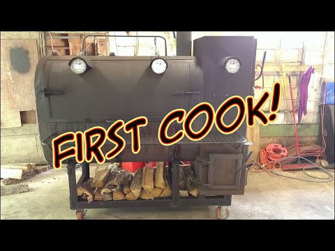 1st Cook/Smoke Using 275 Gallon Heating Oil Smoker