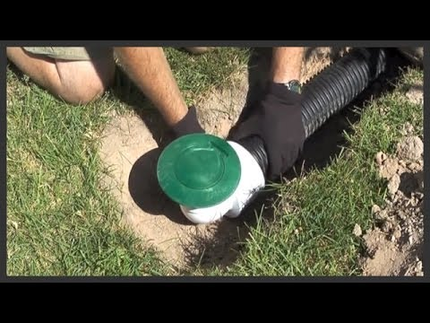 How to install a lawn pop-up drain