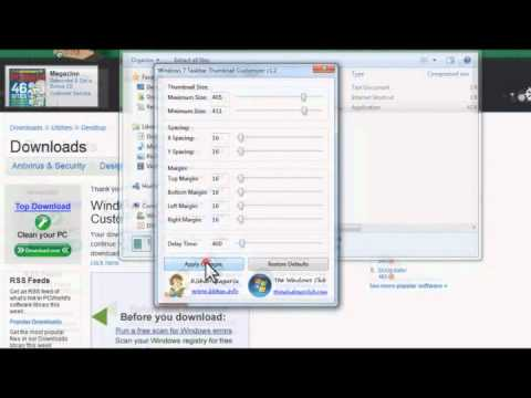 IT Outsourcing Los Angeles CA - Windows 7 Taskbar Thumbnail Customizer