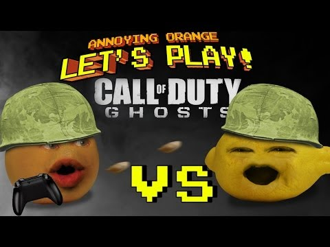 Annoying Orange Let's Play Call Of Duty Ghosts with Grandpa Lemon