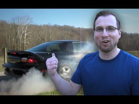 Smoking the tires with a bone stock V6 Camaro