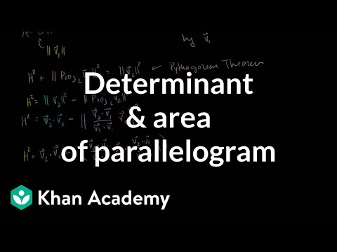 Determinant and area of a parallelogram | Matrix transformations | Linear Algebra | Khan Academy