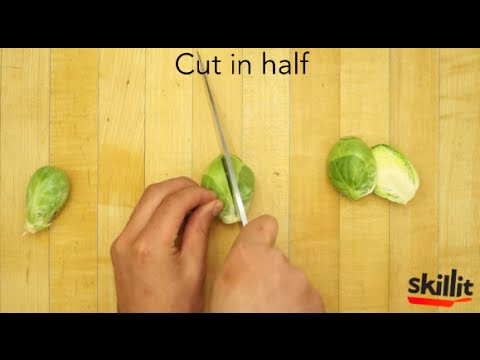 How To Cut: Chop Brussels Sprouts | Skillit: Simple, Easy Recipes