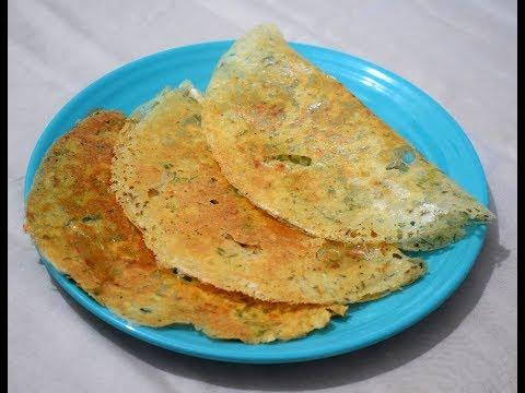 Rava Dosa | Instant Rava Dosa Recipe | Crispy Suji Dosa | रवा डोसा - By Food Connection