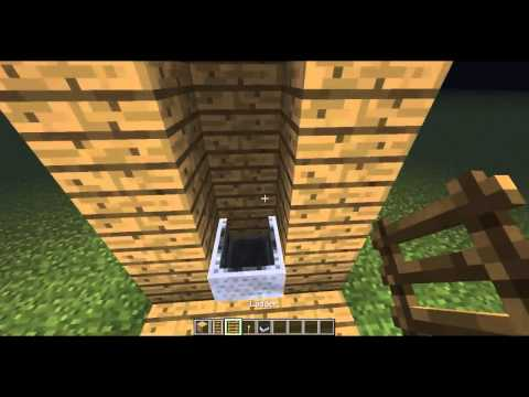 Minecraft : How to make a minecart elevator [Only goes up] No redstone