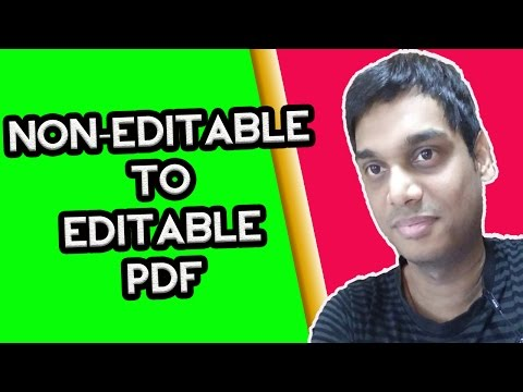 Convert non-editable to editable pdf | Scanned image text to editable text in PDF | Hindi