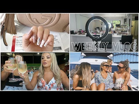 WEEKLY VLOG ♡ GYM, HAIR, NAILS, TAN, SHOPPING, SYDNEY, SALON TOUR & MORE ♡ Jasmine Hand