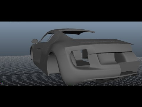 Modelling a Car in Maya Series 1 [P25] Rear View Mirror