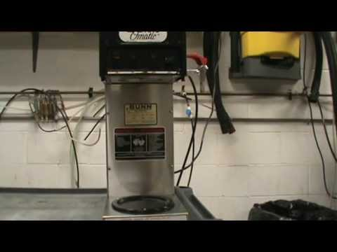 Bunn S-Series Machine Basic Use