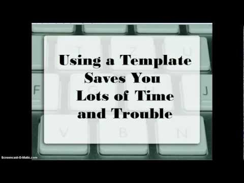 Use an APA or MLA Template