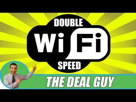 HOW TO DOUBLE YOUR WIFI INTERNET SPEED!!!