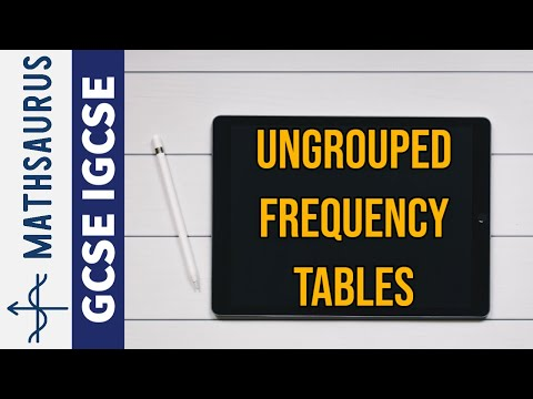 Ungrouped frequency tables GCSE IGCSE